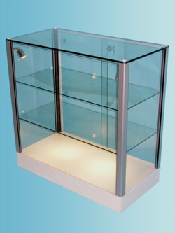 Counter Top Glass Display Cabinets · Designex Cabinets