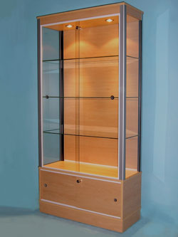 D51 Large Retail Glass Display Cabinet · Designex Cabinets