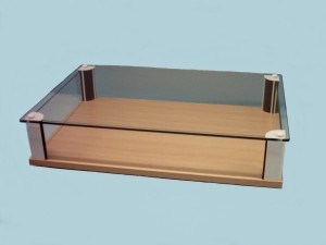 Glass sliding doors outside - Table Top Glass Display Cabinets 183 Designex Cabinets