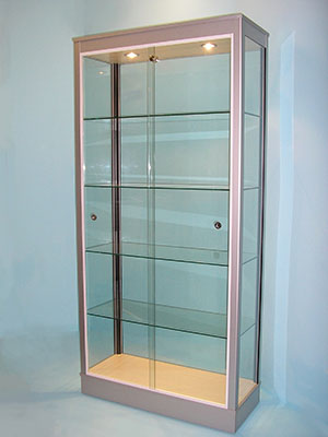 Designex Cabinets D11 aluminium glass display cabinet