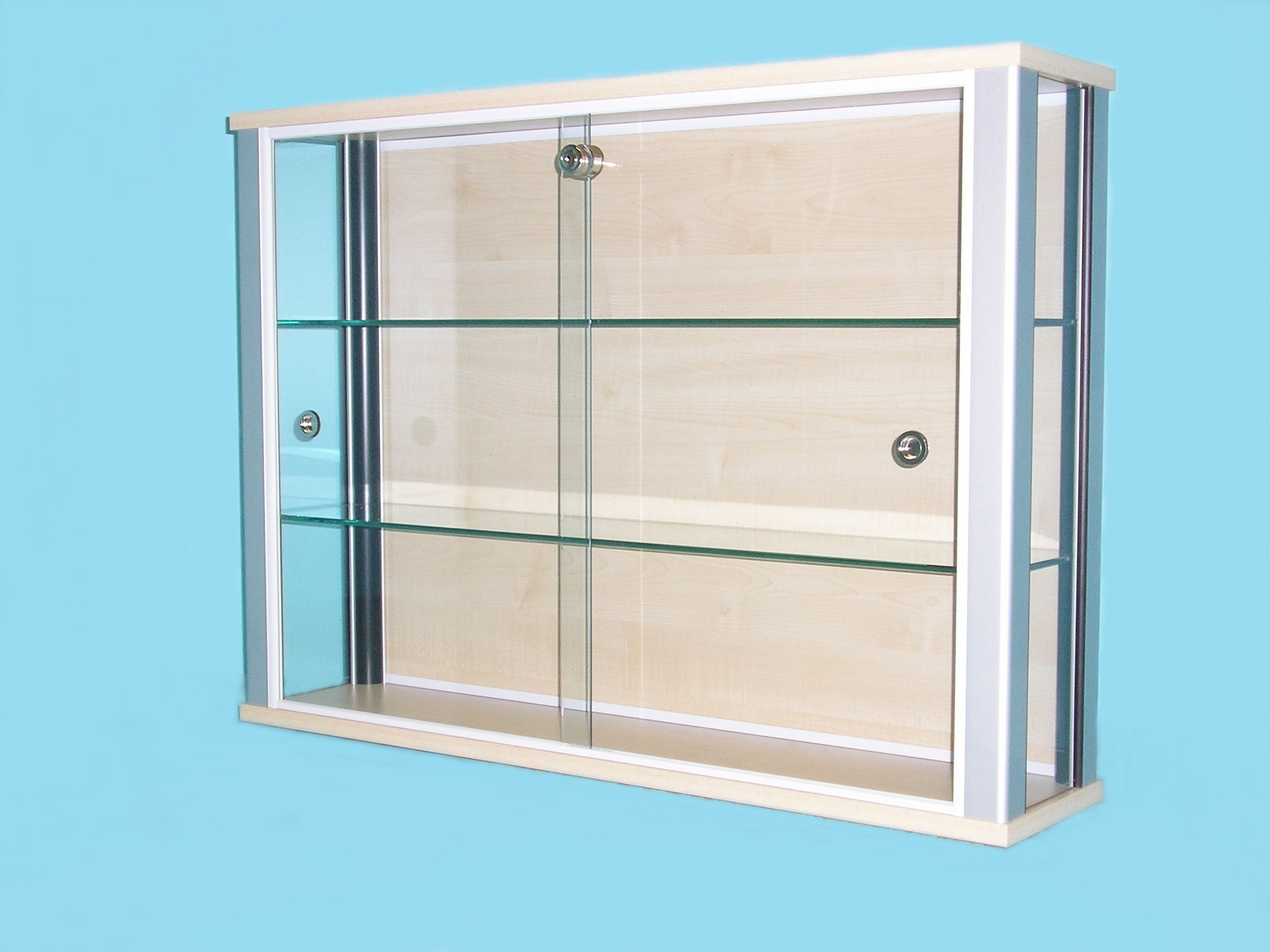 Wall Mounted Glass Cabinet D30 MAPLE