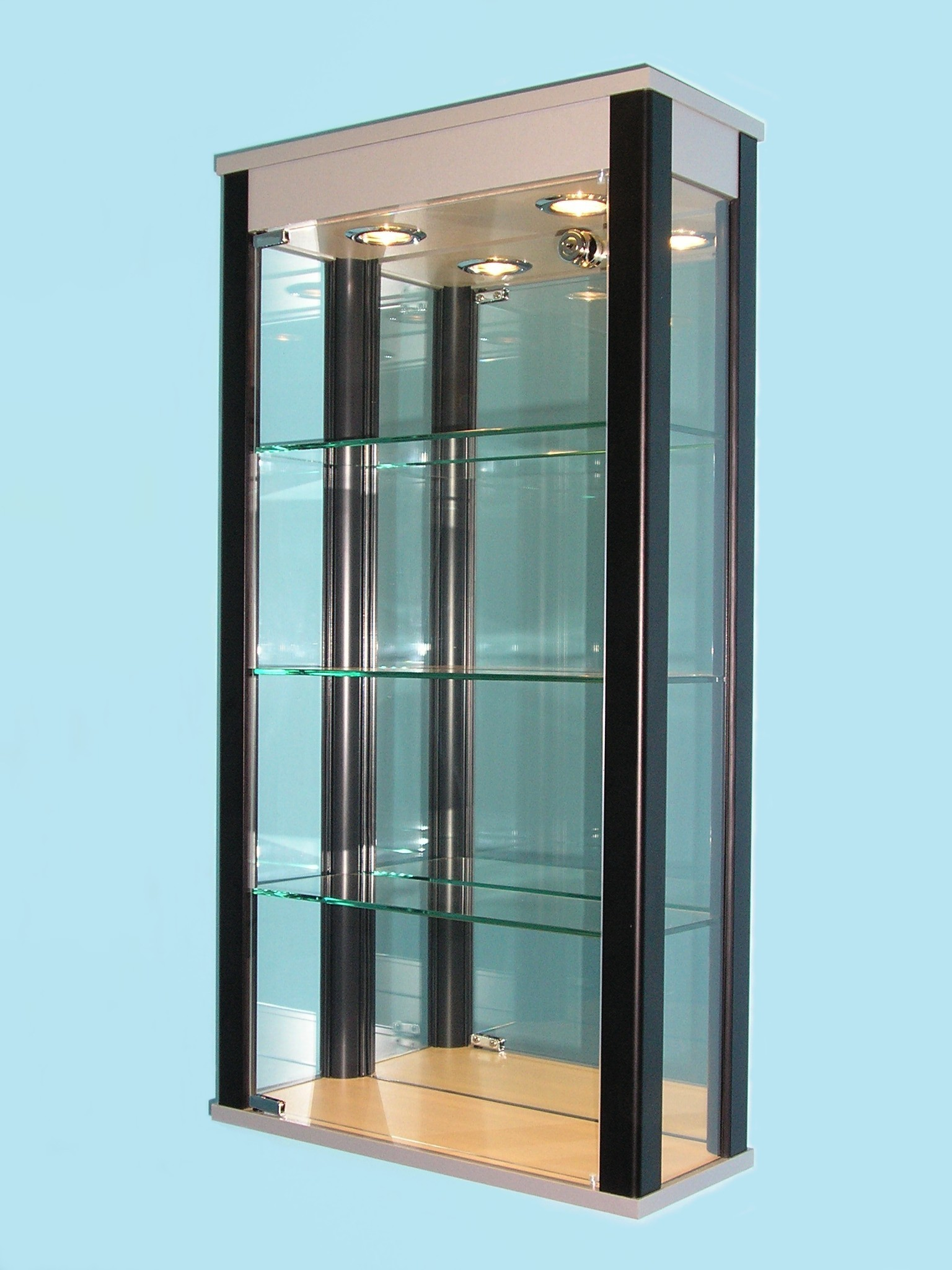 Designex Cabinets D33 aluminium glass display cabinets