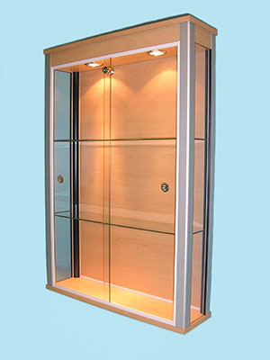 Designex Cabinets beech glass display cabinet