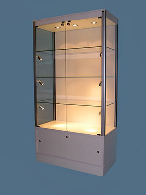 Designex Cabinets storage glass display cabinet