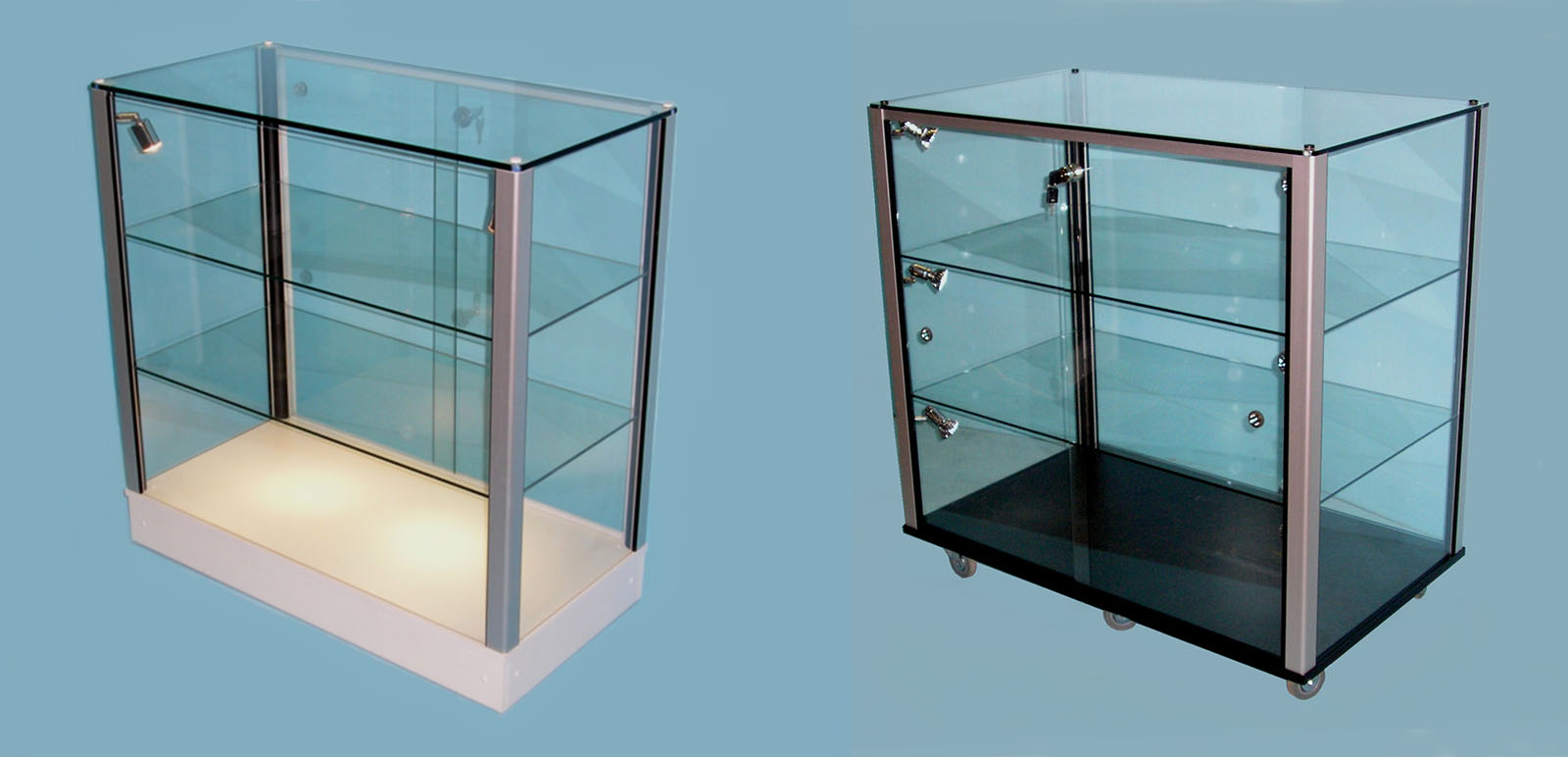Designex Cabinets counter glass display cabinets