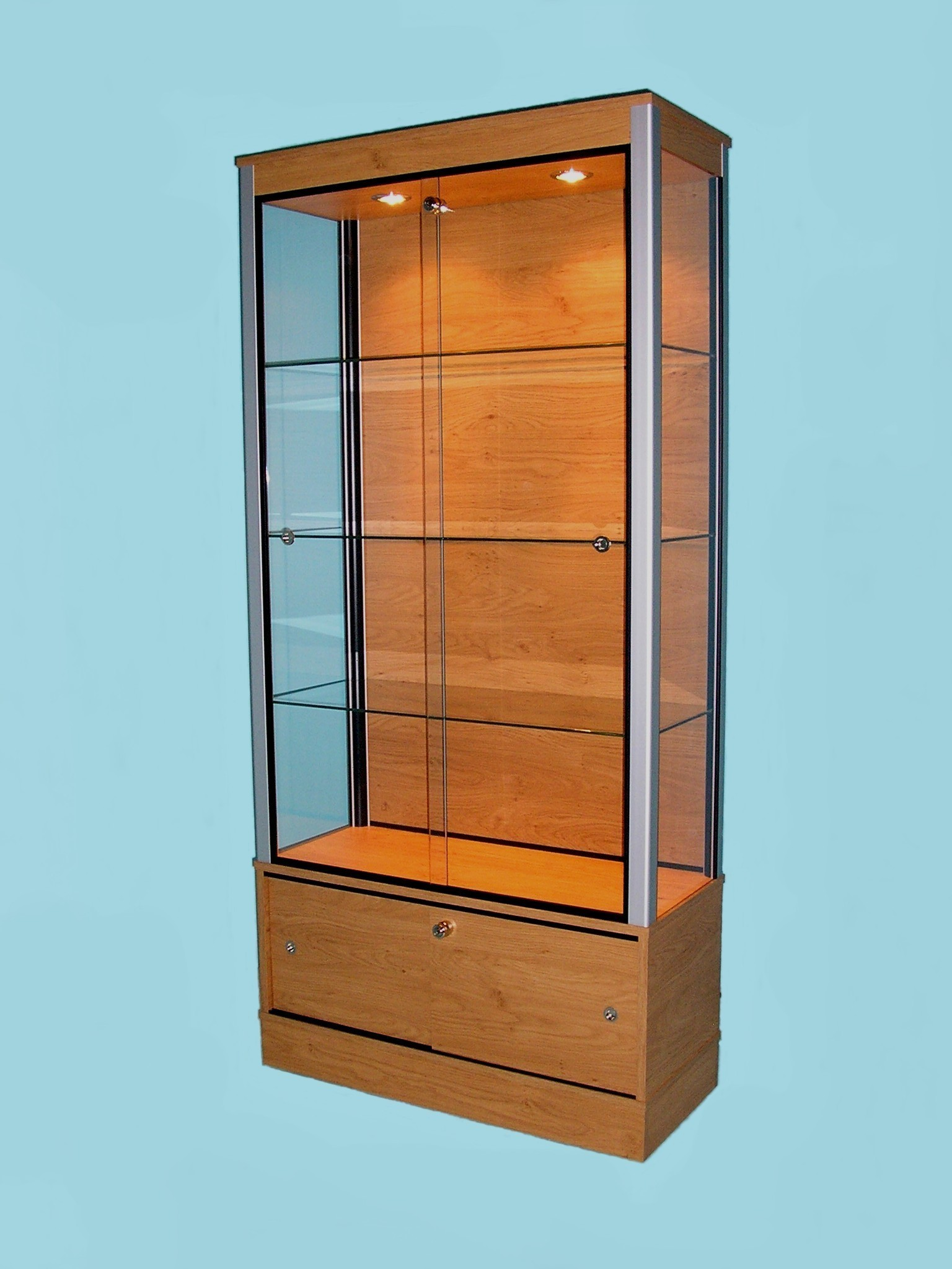 Large Glass Display Cabinets