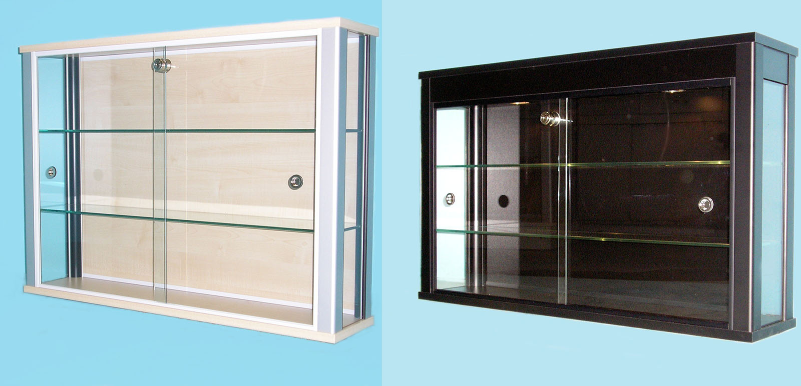Designex Cabinets glass display wall cabinets