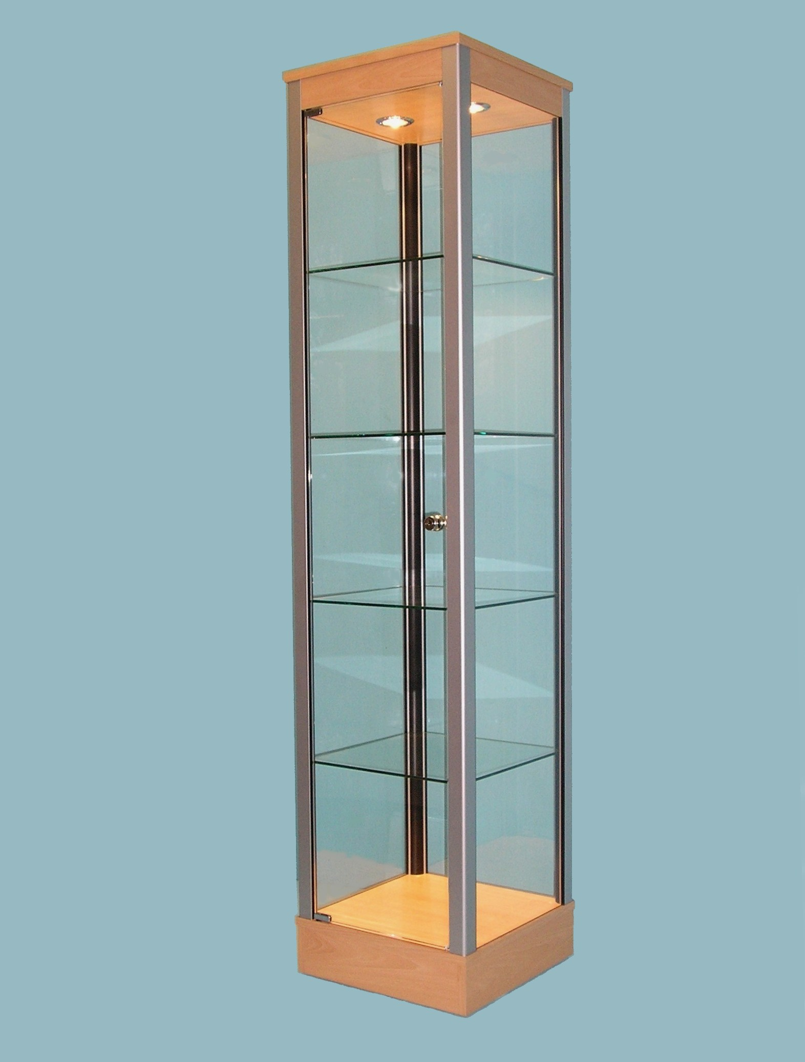 GLASS DISPLAY CABINETS, Designex Cabinets, D20 Tower Cabinet